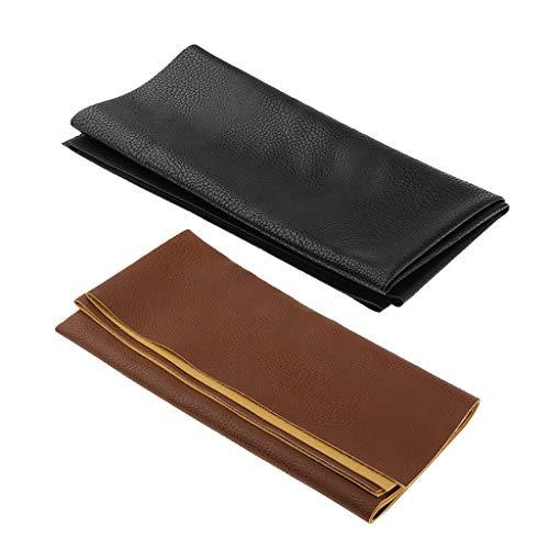 B Baosity 2 Stück 50x50cm Lederstücke Lederreste zum Nähen DIY Brieftaschen Taschen Schuhe