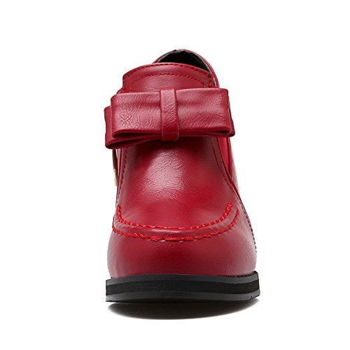 BalaMasa con cerniera, da donna, motivo: tacchi alti, punta rotonda, in gomma, motivo: scarpe Red
