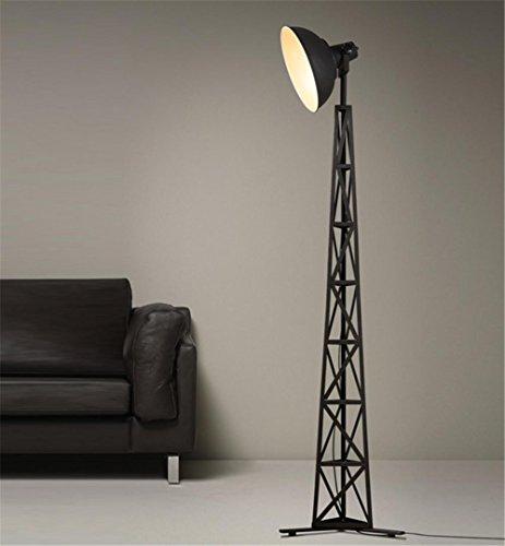 Atmko®Lampada da Terra Lampada a Stelo Piantana Lampada da terra Industrial Style torchiere per camere d'epoca battuto luci a pavimento in ferro
