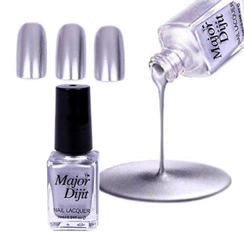 Nail suppliesHKFV Spiegel-Nagellack-Überzug-Silber-Paste Metallfarbe Edelstahl Major Mirror Edelstahl Farbe Nagellack DR32