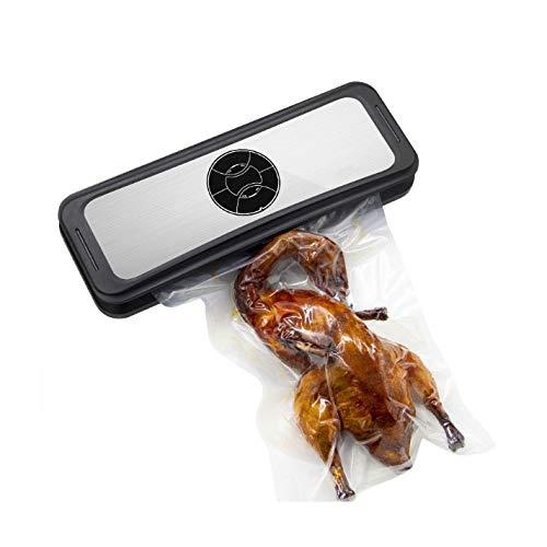 @wq Food Saver Folienschweißgerät Maschine, 3-in-1-Versiegelung mit automatischer manueller Vakuumversiegelung, Vakuumsaugung, eingebauter Schneider