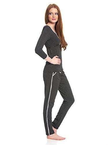 Vive Maria Damen Pyjama French Lolita Black Allover