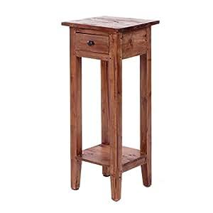 design delights eleganter telefontisch henry 75 cm massivholz mahagoni antik braun. Black Bedroom Furniture Sets. Home Design Ideas