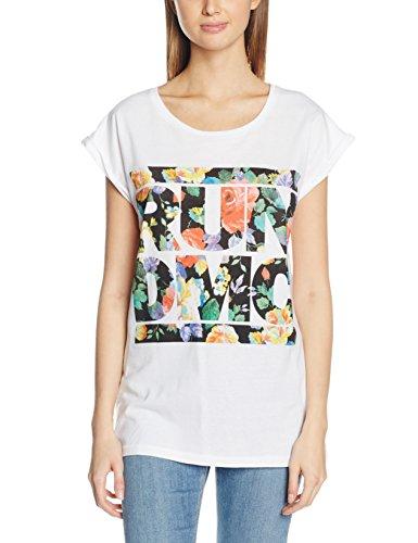 Mister Tee Damen Ladies Run Dmc Floral T-Shirts, White, XS (Womens Tee Floral)