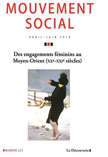 Des engagements féminins au Moyen-Orient (xxe-xxie siècles) par REVUE LE MOUVEMENT SOCIAL