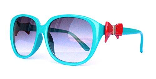 o Vintage Sonnenbrille Sommerbrille Clubmaster Style Rockabilly Trend 2017 2018 Mode Fashion Fashionbrille Beach Club Brille blau schleife rot (Rote Schleife Brille)