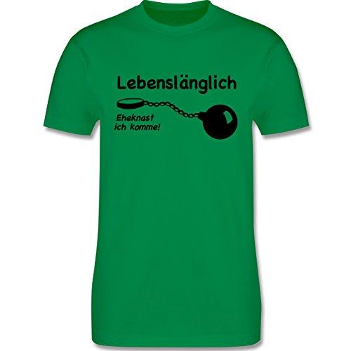 JGA Junggesellenabschied - Lebenslänglich - Eheknast ich komme - Herren Premium T-Shirt Grün