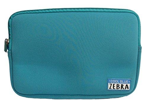 Cool Blue Zebra Kleine Neopren-Hülle - Für Tablet-PC Oder iPad Mini, Kosmetiktasche - Ideal Für Den Einsatz Mit Cool Bag (Cool Blue) Zebra Design Pc