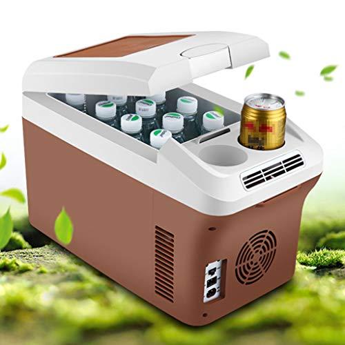 WERT 15 L Kühlbox Elektrisch Zum Ziehen Warmhaltebox Groß Kühltasche Für Auto Und Steckdose 12v 220v 30 cm,Brown -