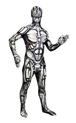 Monster Party Sexy Kostüm - Morphsuits MLMADX - Android Monster Erwachsene Kostüme, Größe 180-186 cm, XL, Multi
