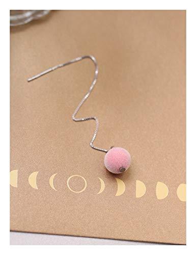 5febac3fc3e4 YOYOYAYA S925 Sterling Silver Earrings Accesorios Auriculares Otoño Velvet  Sencillo Ins Lindo Larga Bordeada