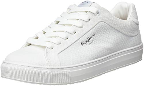 Pepe Jeans London Adams Samy, Zapatillas para Mujer, Blanco (Optic White 802), 40 EU