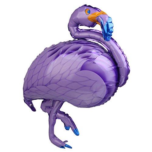 MagiDeal-Globo-de-Lmina-de-Aluminio-Forma-de-Flamingo-Gran-Decoracin-de-Fiesta-Hawaiana-de-Partido-de-Luau-Cumpleaos-de-Nios-41-X-20-Pulgadas-Prpura