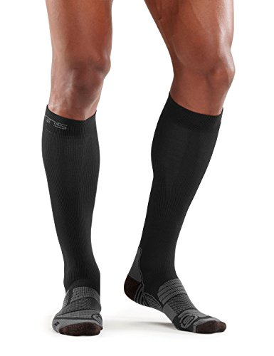 Skins Herren Essentials Comp Socks Active, Black/Pewter, M, ES00019270002 (Gradient Socken Compression)