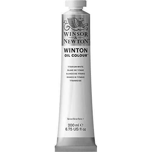 Winsor & Newton 1437644 Winton, feine hochwertige Ölfarbe - 200ml Tube mit gleichmäßiger Konsistenz, Lichtbeständig, hohe Deckkraft, Reich an Farbpigmenten - Titanweiß -