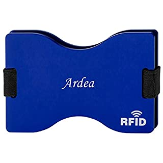 Personalised RFID blocking card holder with engraved name: Ardea (first name/surname/nickname)