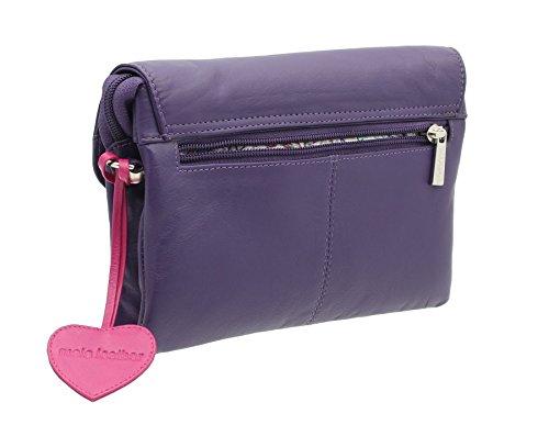 Borsa a Tracolla / Da Polso / Pochette Mala Leather Collezione ANISHKA 769_75 Blu marino Porpora