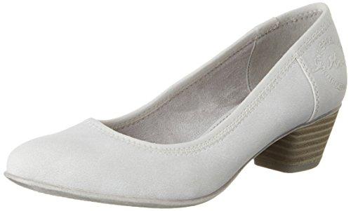 s.Oliver 22301, Chaussures à talons - Avant du pieds couvert femme Blanc (CLOUD 807)