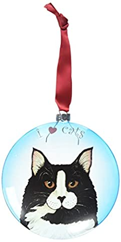 Rescue Me Now Pavilion Gift, Tuxedo Cat Ornament, 5-Inches, Includes