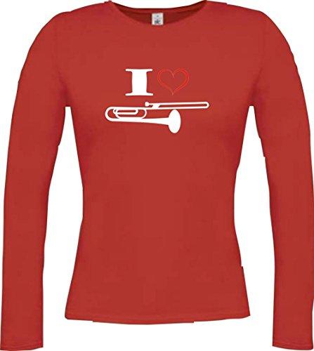 Shirtstown -  Maglia a manica lunga  - Maniche lunghe  - Donna Rot