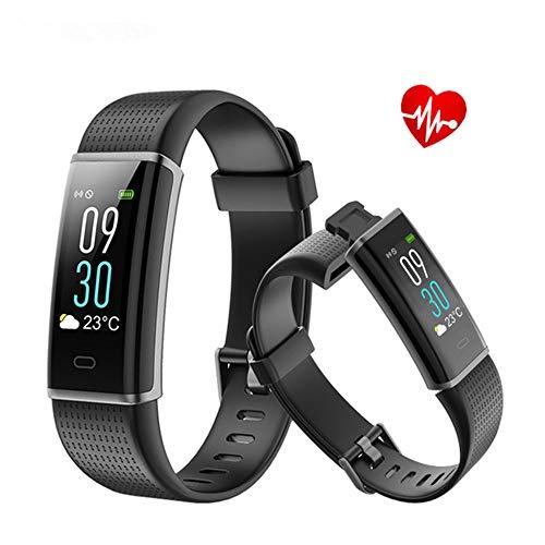 er, Herzfrequenz Monitor Tracker Smart-Armband mit Schritte Tracking, Kalorien verbrannt, Abstand , Schrittzähler und Schlaf Monitor Kalorienzähler Watch, Schwarz ()
