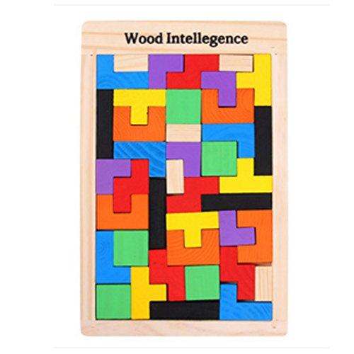 Holzfarben frühe pädagogische Flexible Lustige Combined Block-Spielwaren(Kiefer)