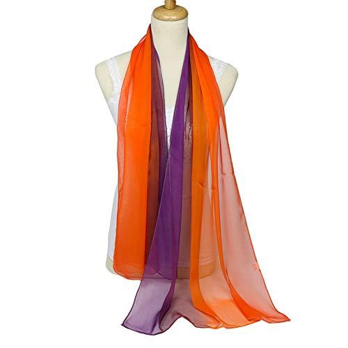 Homeofying Mode Farbverlauf Voile Schal Frauen leichte weiche Lange Hals Wickeln Schal großen Schal großen Schal # 13 - Baumwolle-seide Voile