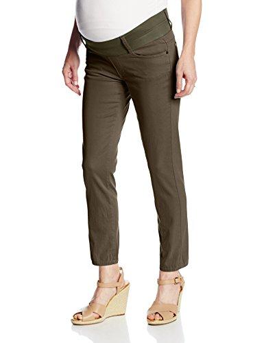Erweiterbarer Bund (Maternal America Damen Umstandsjeans Skinny Ankle - Grün - Mittel)