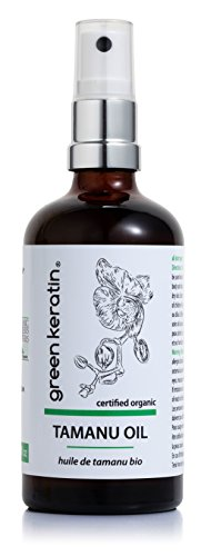 Green Keratin Tamanu Oil, Cold-pressed, Unrefined, 100ml