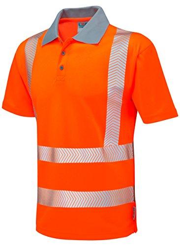 LEO Herren Poloshirt * Einheitsgröße Hi-vis orange