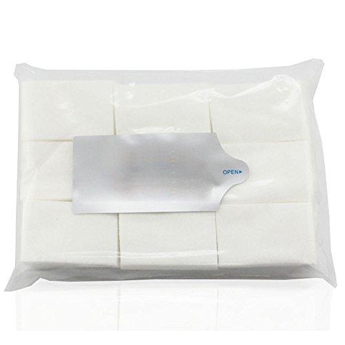 Sunenjoy 600 pcs/900 pcs/pack Dissolvant de Vernis à Ongles Lingettes et Maquillage Cosmétique Remover Pads Nettoyage Visage Nail Coton Pad Tissu Mince (900 pcs)