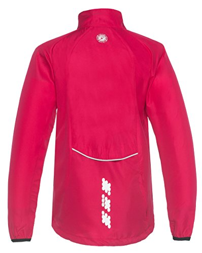Time to Run Windproof Course à Pied Coupe-Vent Veste Pour Femme Rose Cerise