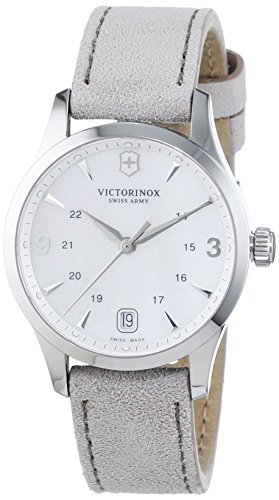 Victorinox Swiss Army Women's Quartz Watch with Black Dial Analogue Display Quartz Leather 241662