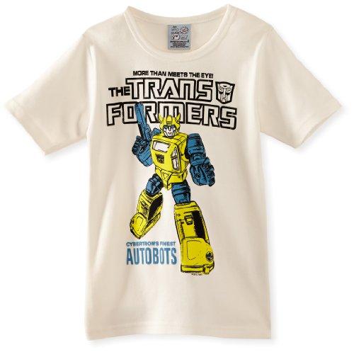 Junge Transformer Kostüm (Logoshirt Jungen T-Shirt, Kids Shirt Transformers-bumblebee-Autobots, GR. 110 (Herstellergröße:104/116),)