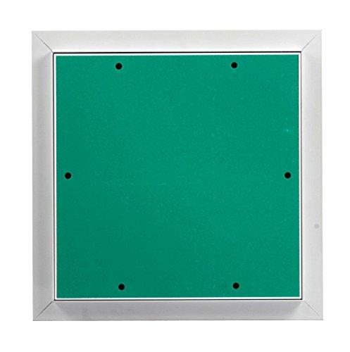 MW multi werkzeug Revisionsklappe 300 x 300 mm mit 12,5mm GK-Einlage imprägniert für Feuchtraum geeignet Aluminium-Rahmen weiß pulverbeschichtet 30 x 30 cm