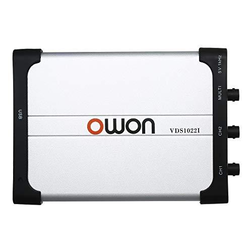 Festnight Owon VDS1022I ZweikanalOszilloskop PCOszilloskope Virtuelles USBOszilloskop 25 MHz Bandbreite 100M / s Abtastrate