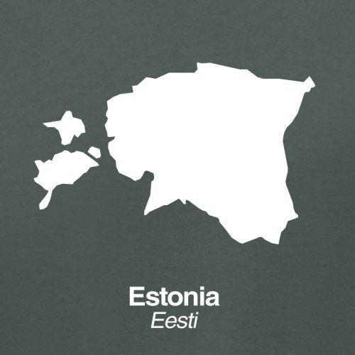 Estonia / Estland Silhouette - Damen T-Shirt - 14 Farben Dunkelgrau