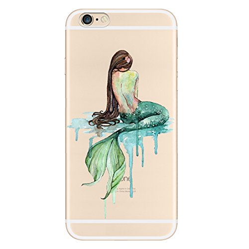 IPHONE SE 5 5S Hülle Meerjungfrau Ananas Liebe Muster TPU Silikon Schutzhülle Handyhülle Case - Klar Transparent Durchsichtig Clear Case für iPhone 5 /5S/SE MRY3