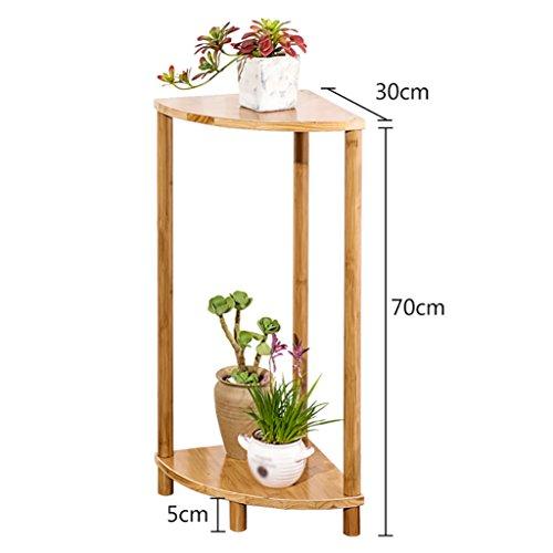 Stand De Fleurs Simple salon bureau étagères supports de chevet intérieur mur coin unique combinaison fleur supports en bois trépied (taille : 70cm)