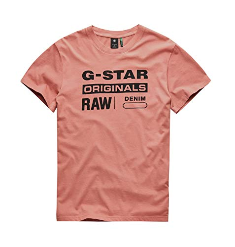 G-STAR RAW Herren Graphic 8 Round Neck' T-Shirt, Rosa (dk Tea Rose A827), XX-Large