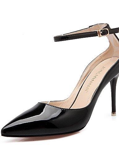 LFNLYX Scarpe Donna-Sandali-Formale-Tacchi / A punta / Chiusa-A stiletto-Finta pelle-Nero / Giallo / Rosa / Rosso / Grigio Yellow