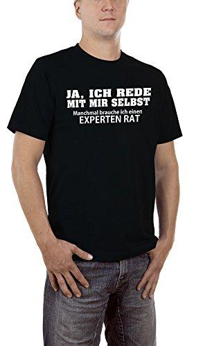 Touchlines Herren T-Shirt Ja, Ich Rede mit Mir Selbst, Schwarz (Black 13), XXXXX-Large