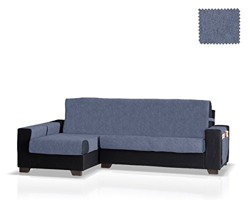 JM Textil Copridivano Chaise Pharma Brazo Izquierdo, Dimensione Grande (275 Cm.), Colore Blu