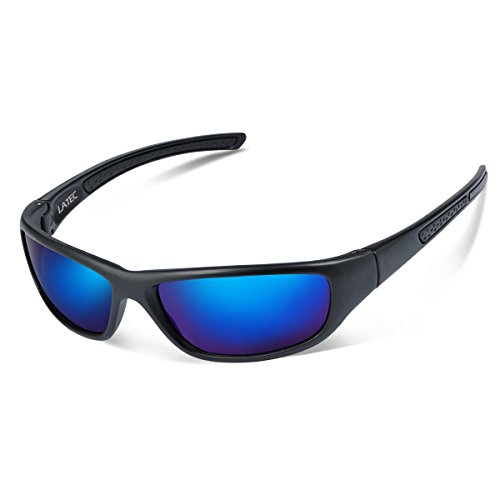 Latec occhiali da sole sportivi, occhiali da sole polarizzati per uomini e donne con 100% uva/uv 400 protezione per outdoor sport ciclismo pesca golf corsa guida camping