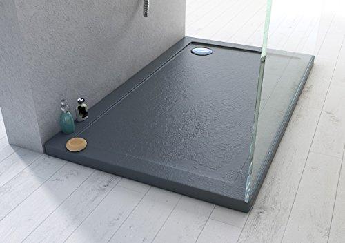 Webmart piatto doccia 70x120x4 rettangolare acrilico effetto pietra