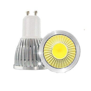 HYY@ 3W GU10 LED Spot Lampen MR16 1 COB 380LM lm Warmes Weiß / Kühles Weiß Dimmbar / Dekorativ AC 100-240 / AC 110-130 V 10 Stück , 220v