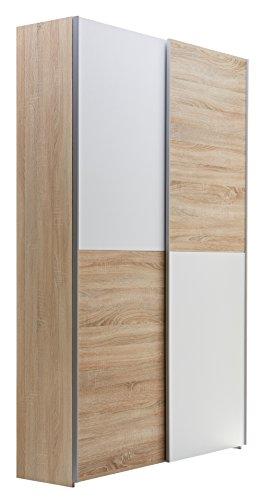 Stella Trading 70-040-68-2 Schrank, Holz, braun / weiß, 38 x 125 x 195 cm
