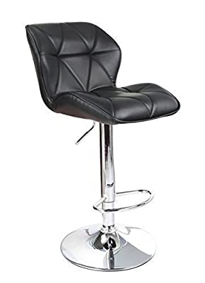 Yopih Modern Uranus Padded Swivel Leather Breakfast Kitchen Bar Stools Pub Barstools Black produced by Yopih - quick delivery from UK.