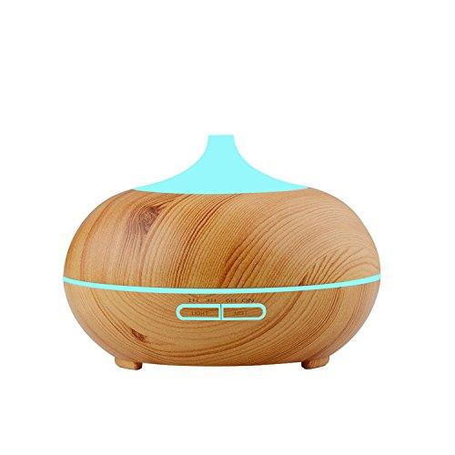 300ml Humidificador de grano de madera aromaterapia Ultrasónico, Difusor de Aroma/ Aceites...