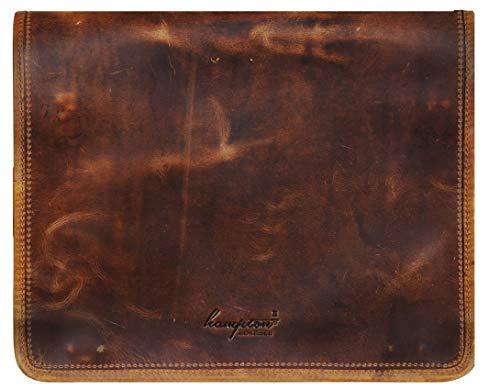 Braun Leder Messenger Reisetasche für Männer Frauen Für 15